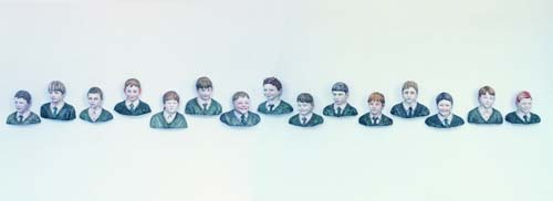 John Ahearn, St Francis Street Boys, 1994, Plaster and acrylic paint, Dimensions variable, Collection Irish Musuem of Modern Art, Donation, the artist, 1994