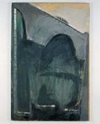 Brian Maguire, Liffey Suicides, 1986, acrylic on canvas, 152.4 x 101.6 cm, Collection Irish Museum of Modern Art, Donation, Vincent & Noleen Ferguson 1996