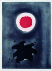 Adolph Gottlieb, Nightglow, 1971, Colour etching on paper, 22/65 (only 40 signed), 64.5 x 48 cm, Donation, Gordon Lambert Trust, Collection Irish Museum of Modern Art