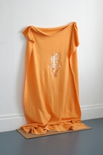 Phantom Blanket, 2008, Orange Wool Blanket