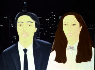 Alex Katz, Hiroshi and Marcia, 1981, Oil on canvas, 182.8 x 243.7 cm, Tate, presented by Paul Schupf, 1983, � DACS, London/VAGA, New York 2007