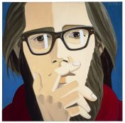 Alex Katz, Ted Berrigan, 1967, oil on linen, 121.9 cm x 121.9 cm, Photo courtesy PaceWildenstein, New York, � DACS, London/VAGA, New York 2007