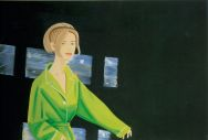 Alex Katz, Yvonne in Green, 1995, Oil on linen, 48 x 72 inches, Courtesy of the Marlborough Gallery, New York, � DACS, London/VAGA, New York 2007