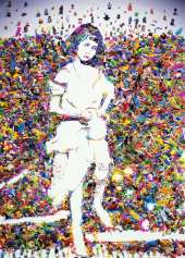 Vik Muniz, Portrait of Alice Liddell, after Lewis Carroll, 2004, Chromogenic print, mounted on aluminium, wooden frame and acrylic fabric, 253.5 x 184.5 cm, Collection Irish Museum of Modern Art