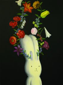 Atushi Kaga, I Have Always Flowers For You In My Head, 2008, Acrylic on canvas, 80 x 60 cm