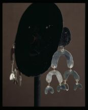 Alexdander Calder, Earrings, c. 1940, Silver wire, 4 x 4 inches each, Calder Foundation, New York, � 2007 Calder Foundation,Photography by Maria Robledo New York