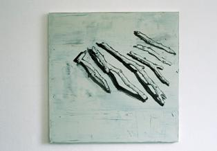 Ciaran Murphy, 6 Sticks, 70 x 70 cm, oil on linen, 2007