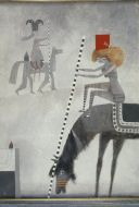 Colin Middleton, Encounter with Half a Horse,c.1960, Oil on Board,61 x  46 cm, Heritage Gift from the McClelland Collection by Noel and Anne Marie Smyth, 2003
