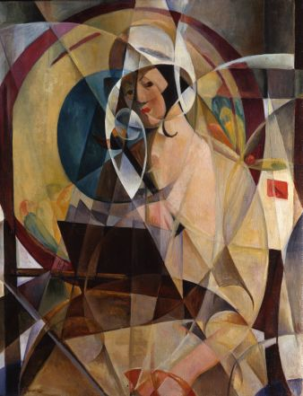 Mary Swanzy, Woman with white bonnet, 1920 circa, Oil on canvas, 99 x 80 cm, Private Collection U.K. Courtesy of Pyms Gallery, London, � Artist's Estate. Photo Credit � Pyms Gallery, London.