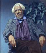 Edward McGuire, Portrait of Paddy Collins, Oil on board,