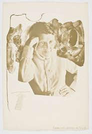 Robert Rauschenberg, Tanya Grossman, 1967, 57.6 x 39.4 cm.  The Novak O'Doherty Collection. © Estate of Robert Rauschenberg. DACS, London/VAGA, New York, 2010. Photo Ellen Page Wilson Photography, New York