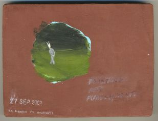 Francis Al�s, Le Temps du Sommeil, 1996 � present, series of 100 paintings (ongoing), oil and pencil on wood, 12 x 16 cm