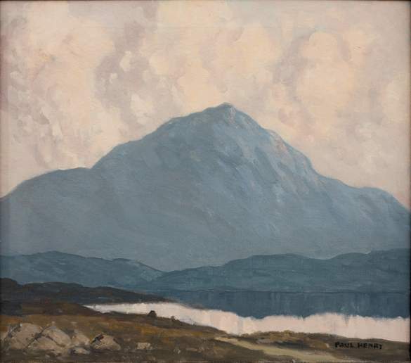 Paul Henry. Errigal, Co. Donegal, c. 1930. oil on canvas. 36 x 38 cm. Collection Irish Museum of Modern Art. Heritage Gift by Bank of Ireland, 1999