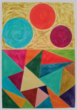 'Three bodies rising' Isabel Nolan, 2013, watercolour on paper, 42 x 29.5 cm.