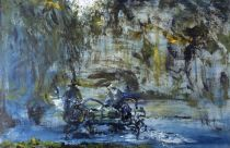 Jack B. Yeats, St Stephen's Green, Closing Time, 1950, Oil on canvas, 36 x 53.5 cm. Collection Irish Museum of Modern Art, Heritage Gift By Brian Timmons