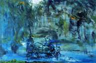 Jack B Yeats, St Stephen�s Green Closing Time, 1950, Oil on canvas, 36 x 53.5 cm, Collection Irish Museum of Modern Art, Heritage Gift, Brian Timmons, 2002