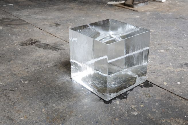 Jeppe Hein, Ice Cube, 2005, water, 50 x 50 x 50 cm, edition: 5 x 2 AP, Courtesy Johann Koning, Berlin and 303 Gallery, New York. Photo: Nick Ash