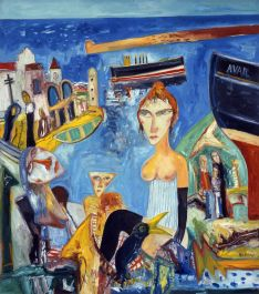 John Bellany,Avail, 1997, Oil on canvas, 173 x 152 cm, Collection Irish Museum of Modern Art, Purchase, 1999