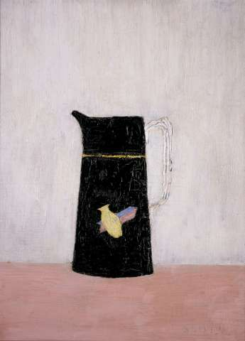 Patrick Scott, Black Jug, c. 1942, Oil on canvas on board, 40.6 x 30.5 cm, Private collection