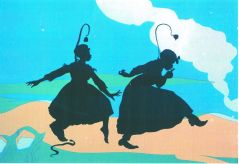 Kara Walker, For the Benefit of all the Races of Mankind (Mos' Specially the Master One, Boss) An Exhibition of Artifacts, Remnants, and Effluvia Excavated from the Black Heart of a Negress, 2002, Cut paper and projection on wall, Variable dimensions, Collection MAXXI � Museo nazionale delle arti del XXI secolo, Roma, Photo courtesy Sikkema Jenkins & Co.