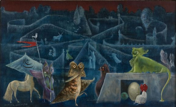 Leonora Carrington, Ulu's Pants, 1952, Oil and tempera on panel, 55 x 91 cm, Private Collection, � Estate of Leonora Carrington / ARS