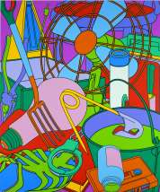 Michael Craig-Martin, Eye of the Storm, acrylic on canvas, 335.3 cm x 279.4 cm, Collection Irish Museum of Modern Art