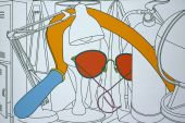 Michael Craig-Martin, Heat, 2000, Acrylic on canvas, 213.4 x 320cm, Courtesy GLG Partners