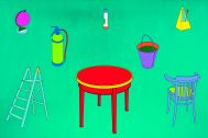 Michael Craig-Martin, Learning, 1996, acrylic on canvas, 367 x 245 cm, Courtesy the artist
