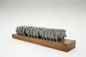 Ois�n Kelly, The Marchers, 1969, Cast aluminium, 18 x 78 x 7cm, Collection Irish Museum of Modern Art, Heritage Gift by the Bank of Ireland from the Bank of Ireland collection, 2008