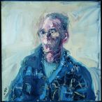 Nick Miller, Patrick Hall, 1994, Oil on Canvas, 86 x 86 cm, Collection Irish Museum of Modern Art, Purchase, 1997