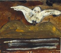 Patrick Hall, Protecting Wings, 2007, ink and pastel, 18.5 x 21cm, Collection of the artist