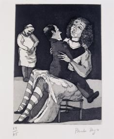 Paula Rego, The Baker's Wife, 1989, Etching and aquatint, 14/75, 33.5 x 26.3 cm, Collection Irish Museum of Modern Art, Purchase, 1997