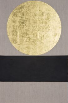 Patrick Scott, Meditation Painting, 2006, Gold leaf & acrylic on unprimed canvas, 122 x 81 cm, Collection the artist
