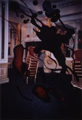 Rebecca Horn,Dublin Last Waltz at the Shelbourne Hotel, 1992, Over-painted photograph, Unframed: 126 x 92.5 cm, Donated by the artist, 2001