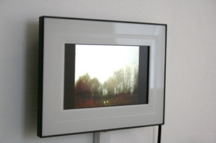 Sam Jury - 'Video Postcards' - single channel, looped videos works on digital screen (20 x 30 cm), 2010
