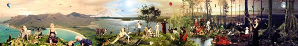 Tea Makipaa, World of Plenty, 2005, Colour photo print 3000 x 300 cm