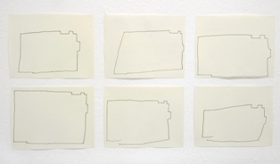 Thessia Machado, perimeter, Spaced, Process Room, IMMA, 2006