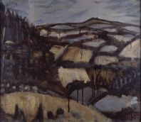 Tony O'Malley, Vinegar Hill, From Bree Hill, 1957, Oil on canvas, 45.5 x 52.5 cm. Collection Irish Museum of Modern Art, Heritage Gift From The Mcclelland Collection
