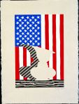 Jasper Johns, Untitled, 2000, linocut on paper, 22 �  x 17 inches, Collection Walker Art Center, Minneapolis, Gift of the artist, 2001 � Jasper Johns/Licensed by VAGA, New York