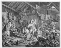 William Hogarth, Strolling Actresses Dressing in a Barn, 1738, Etching and engraving, Donation Madden Arnholz Collection, 1988, Irish Museum of Modern Art